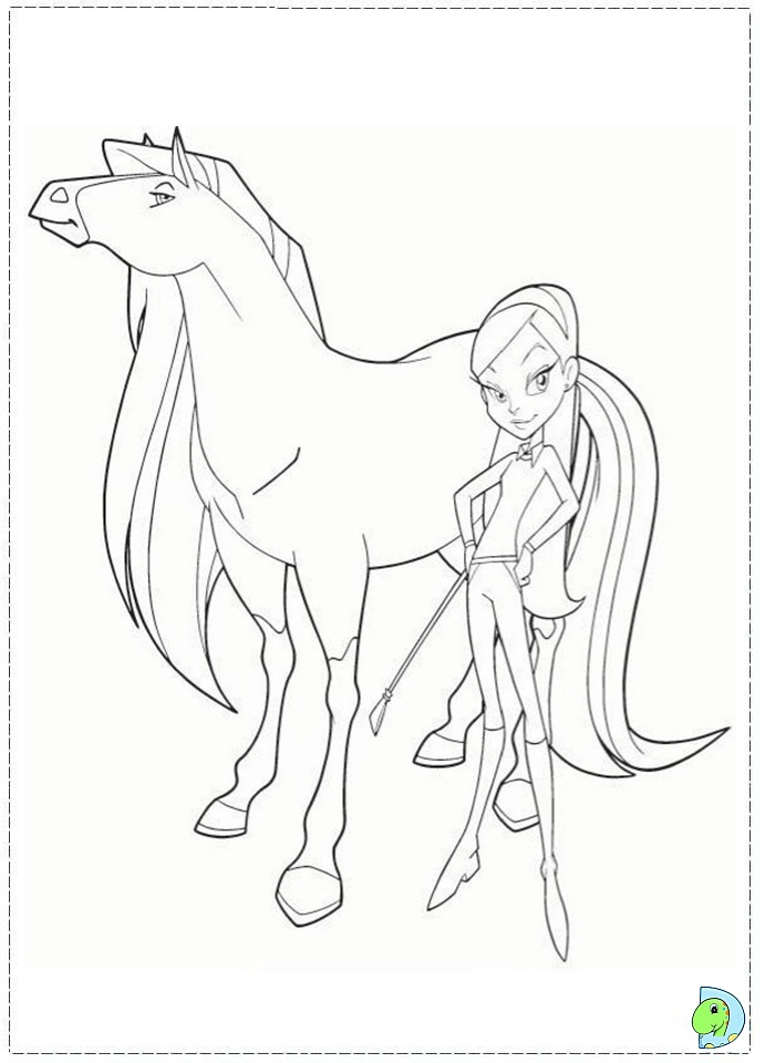 horseland coloring pages to and print for free