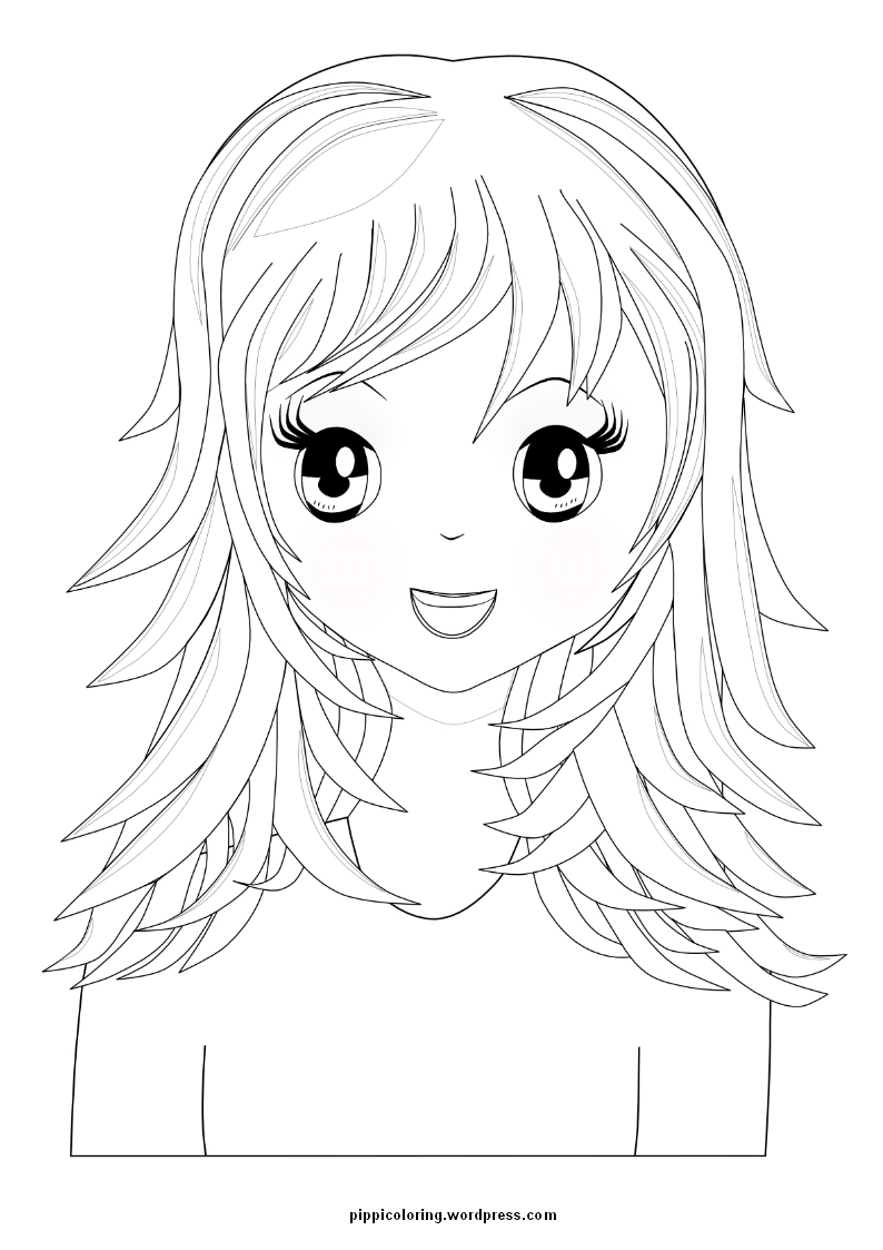 manga cartoon coloring pages - photo#23