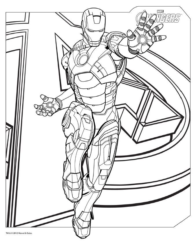 Hawkeye coloring pages to download and print for free