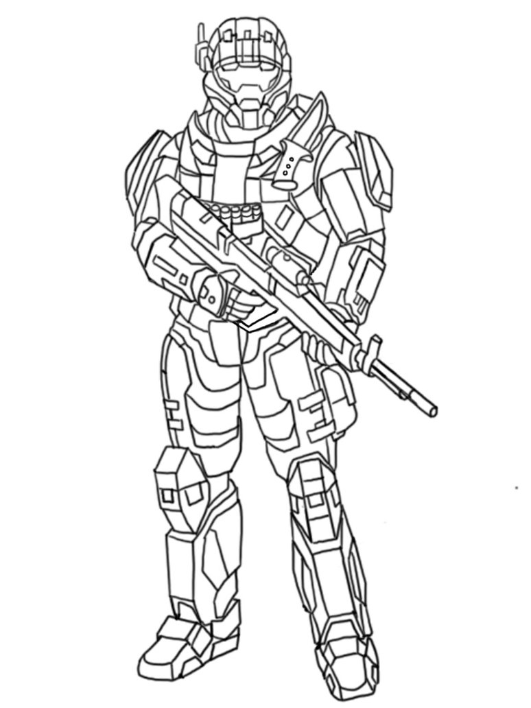 Halo coloring pages to download