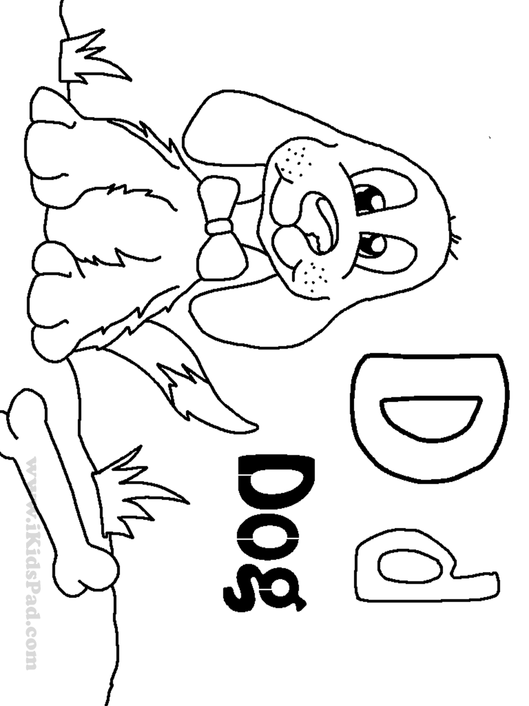 d for dog coloring pages - photo #32