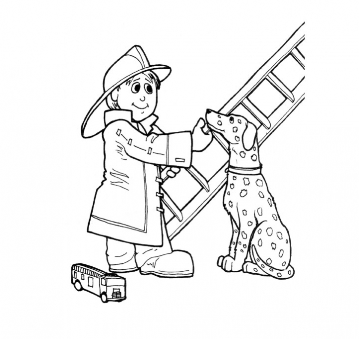 Firefighter coloring pages to download and print for free for Firefighter coloring pages printable