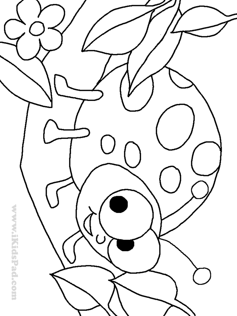 Ladybug coloring pages to download and print for free for Coloring pages of ladybugs