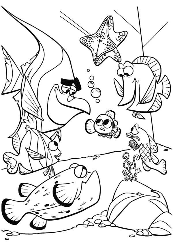 peach character of nemo squirt coloring pages. nemo coloring ...