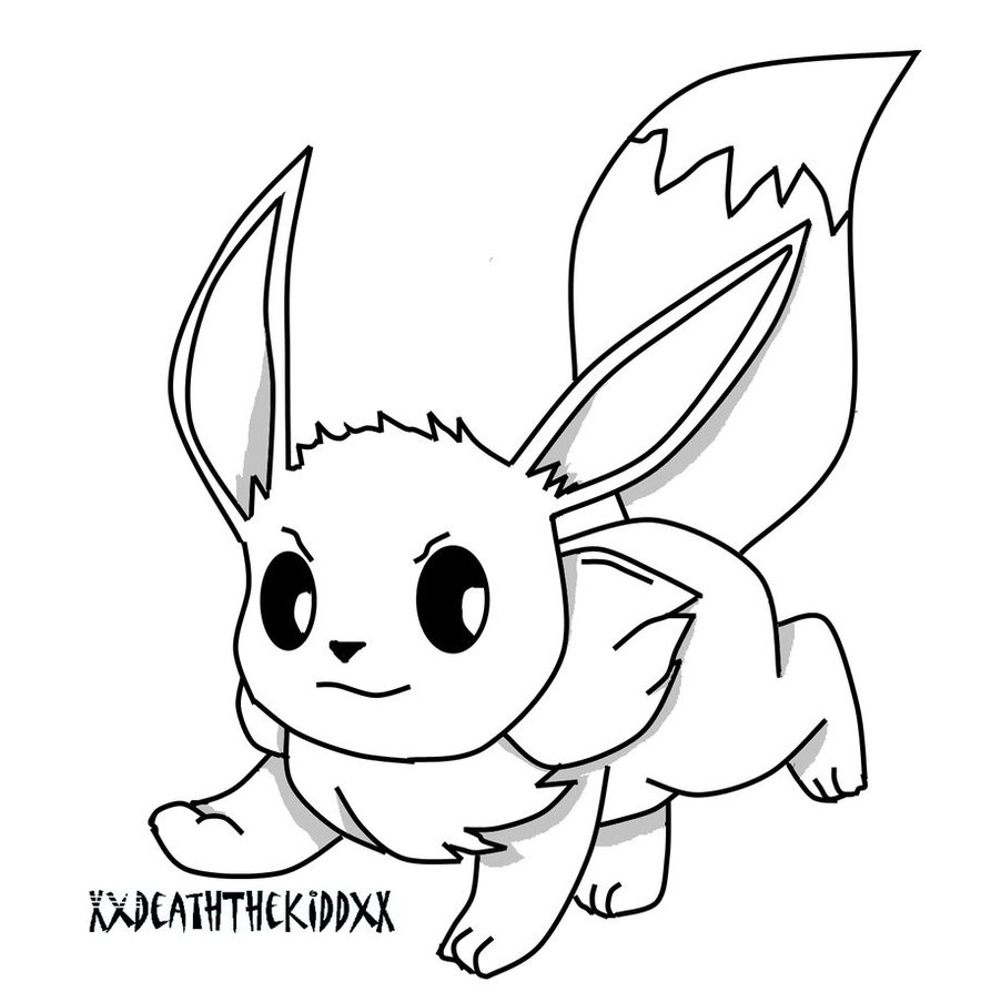 eevee coloring pages to and print for free