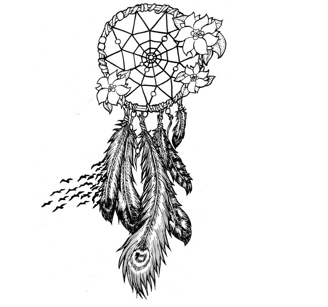 Dreamcatcher coloring pages to