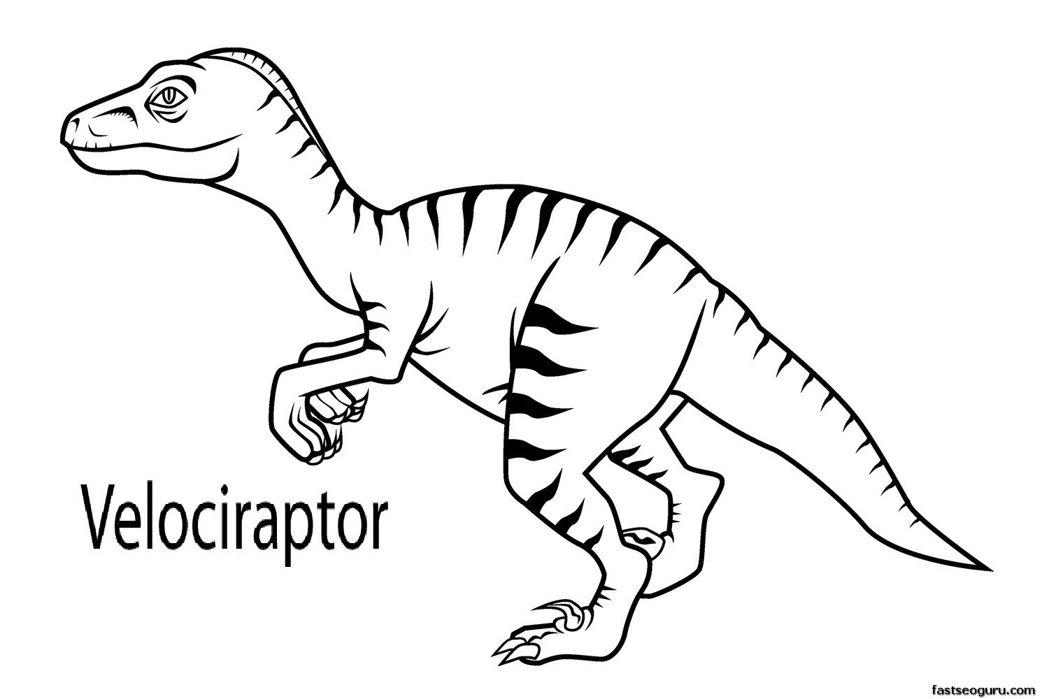 Printable coloring pages dinosaurs -  Dinosaur Coloring Pages Printable