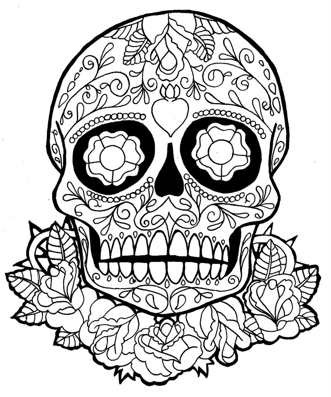 Adult Beauty Dia De Los Muertos Printable Coloring Pages Gallery Images cute dia de los muertos coloring pages to download and print for free gallery images