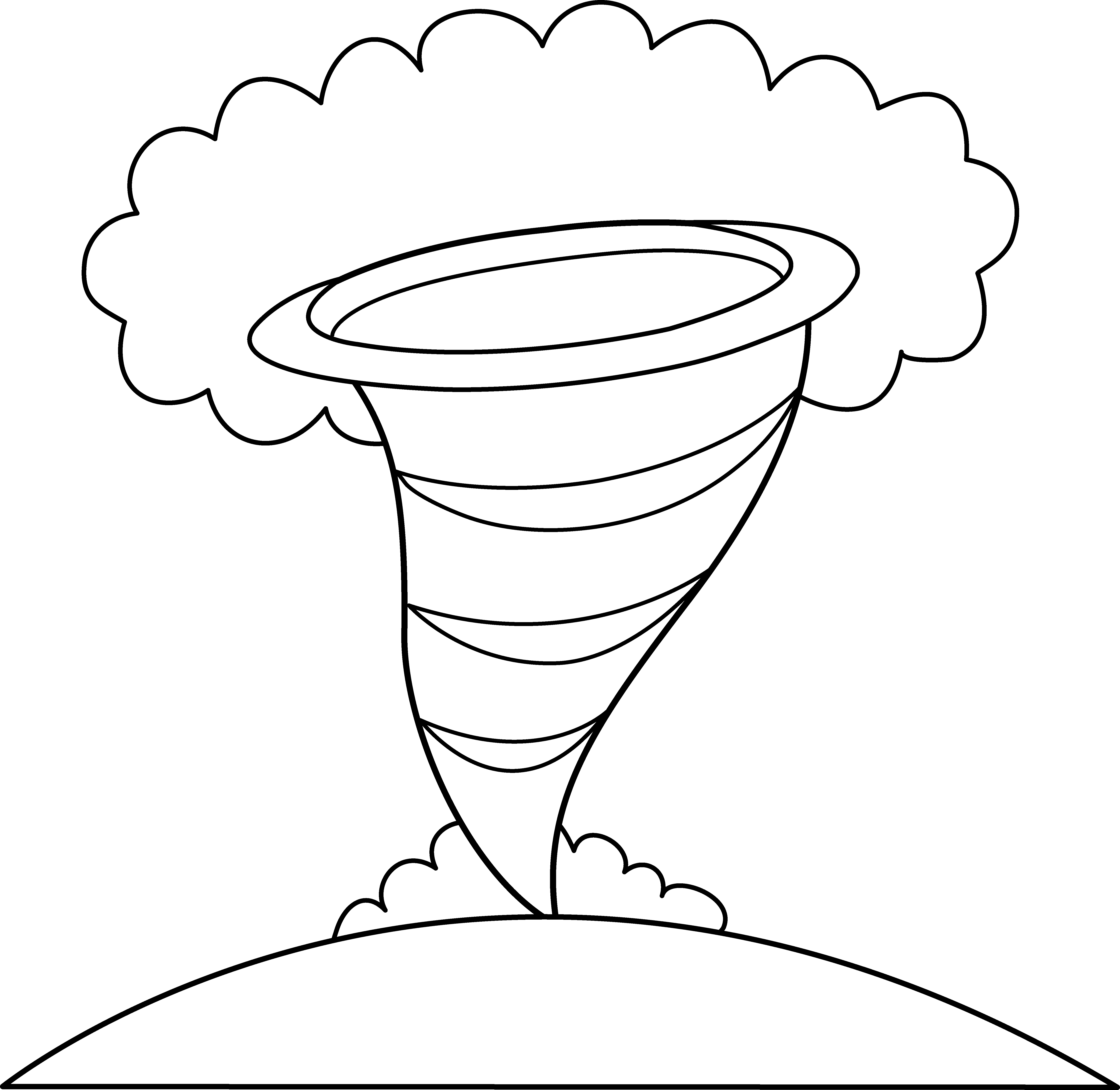 Tornado coloring pages to download