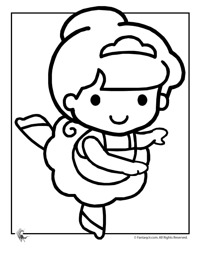 Ballet coloring pages to download