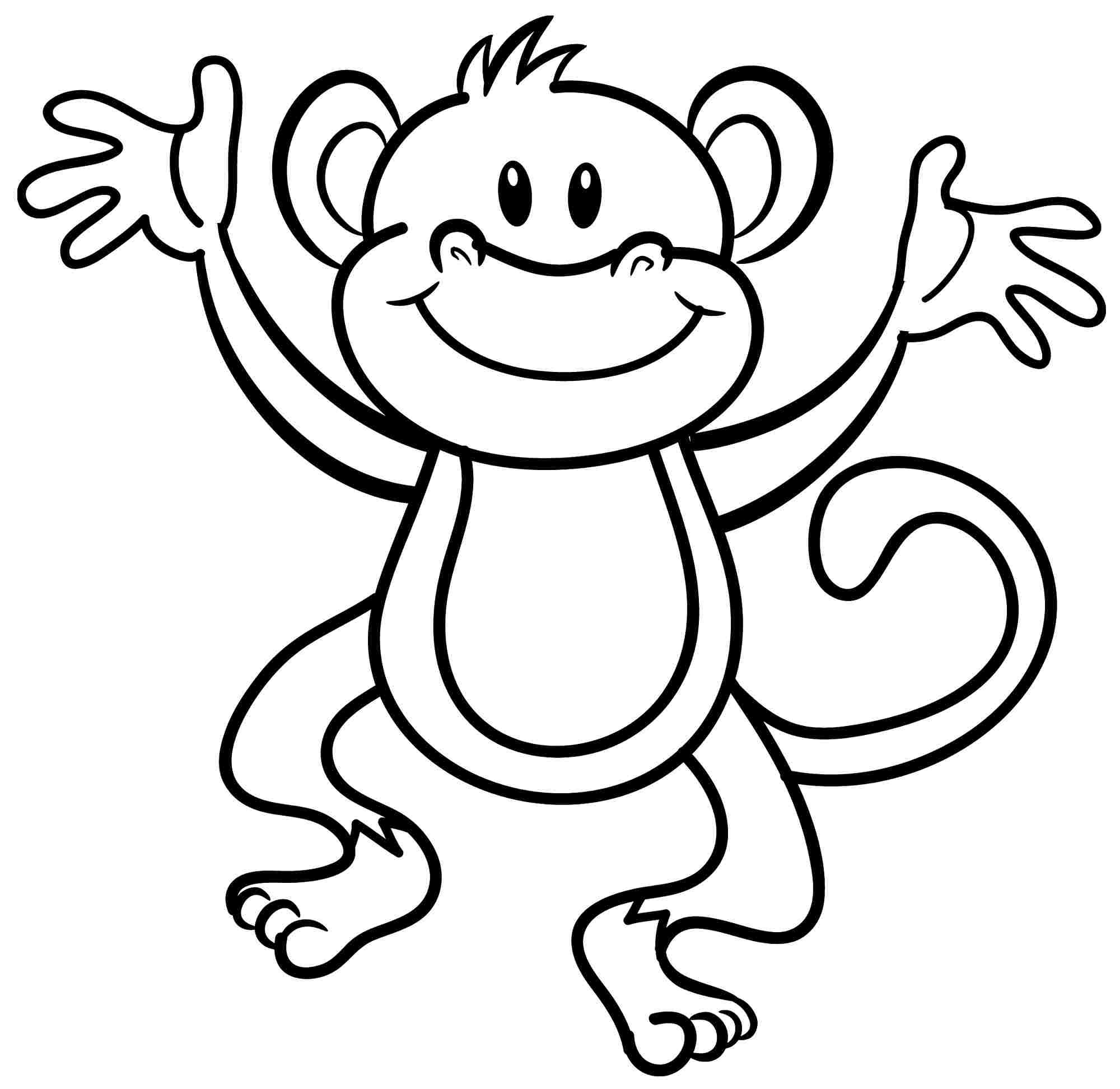 baby monkey coloring pages to download and print for free