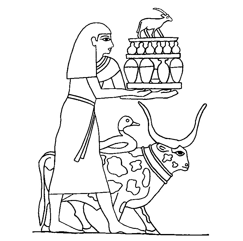 Ancient egypt coloring pages to
