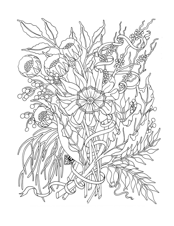 Цветы в Рисунки на мебШкольные Дракон иРеставрация