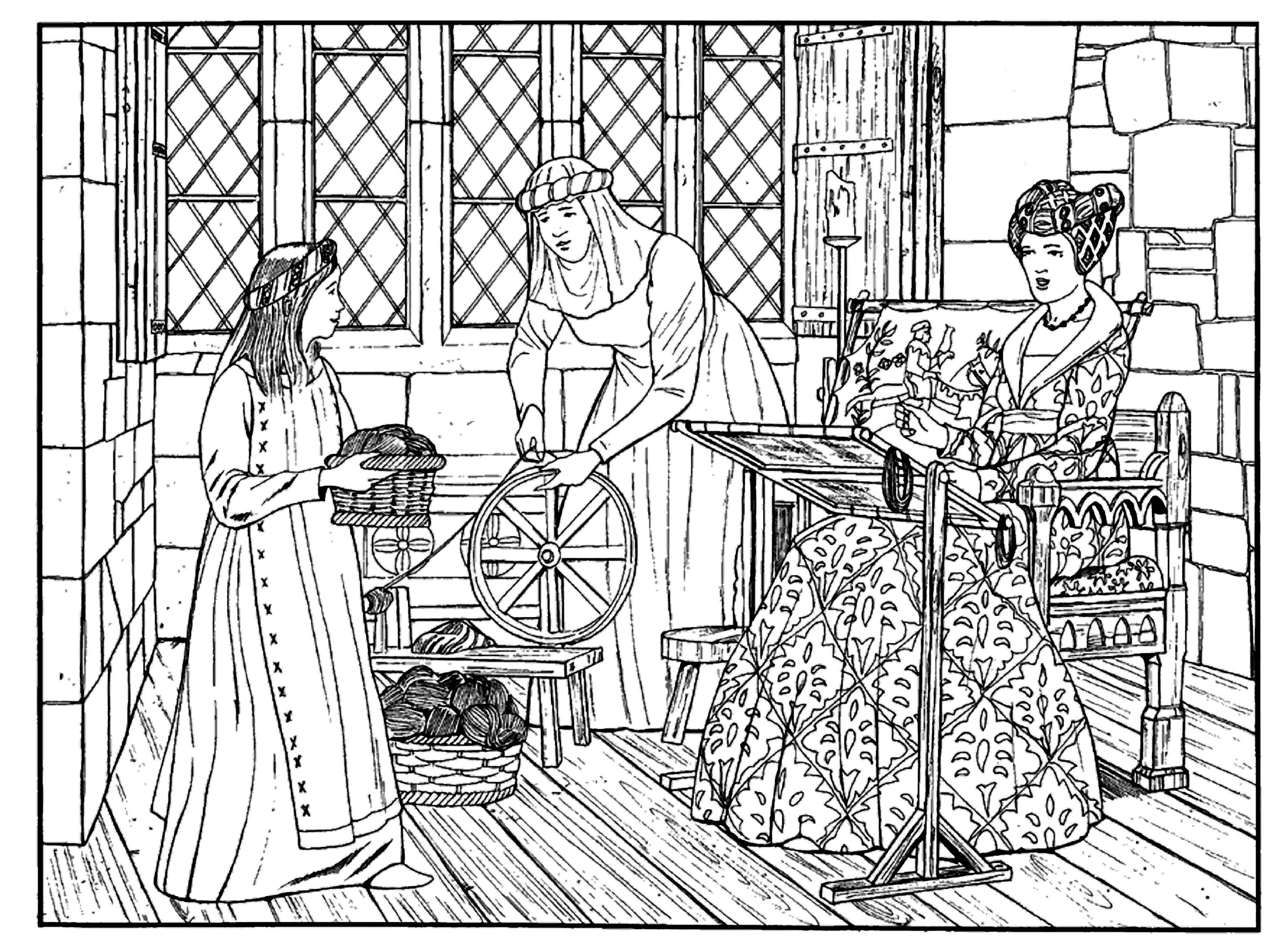 coloring pages middle ages - photo#34