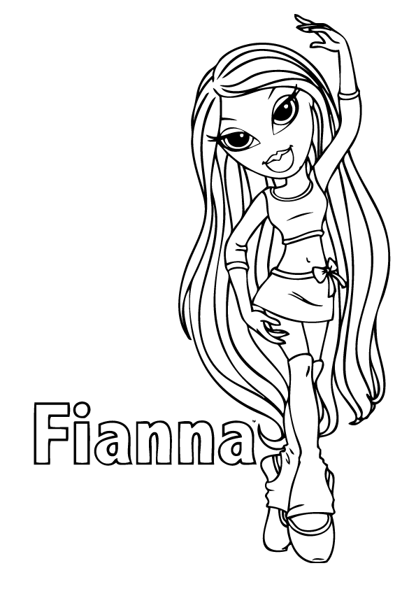 Bratz coloring pages to download and print for free