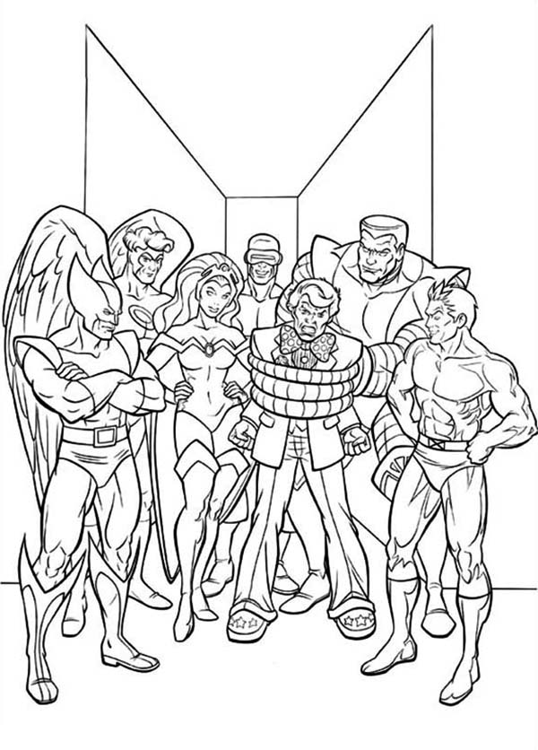 This is a photo of Juicy Xmen Coloring Pages