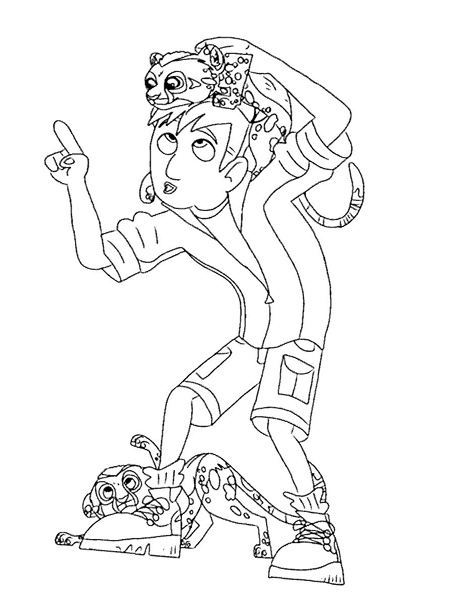 Wild kratts coloring pages download