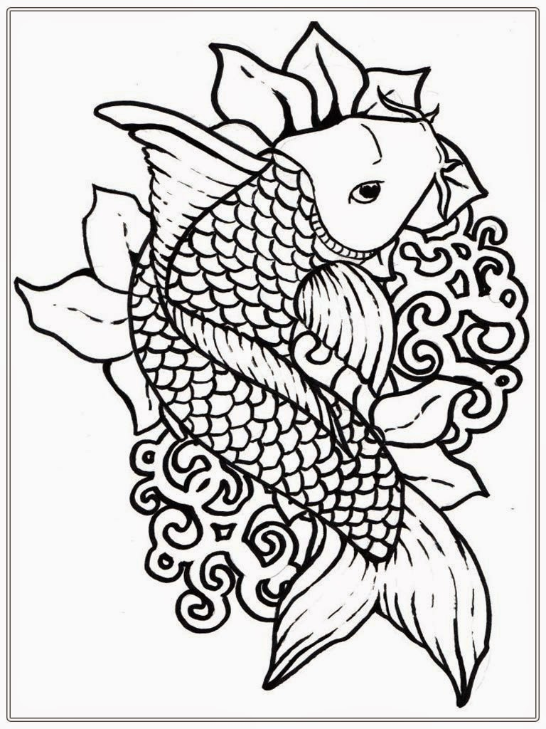koi fish coloring pages - Download Coloring Pages For Adults
