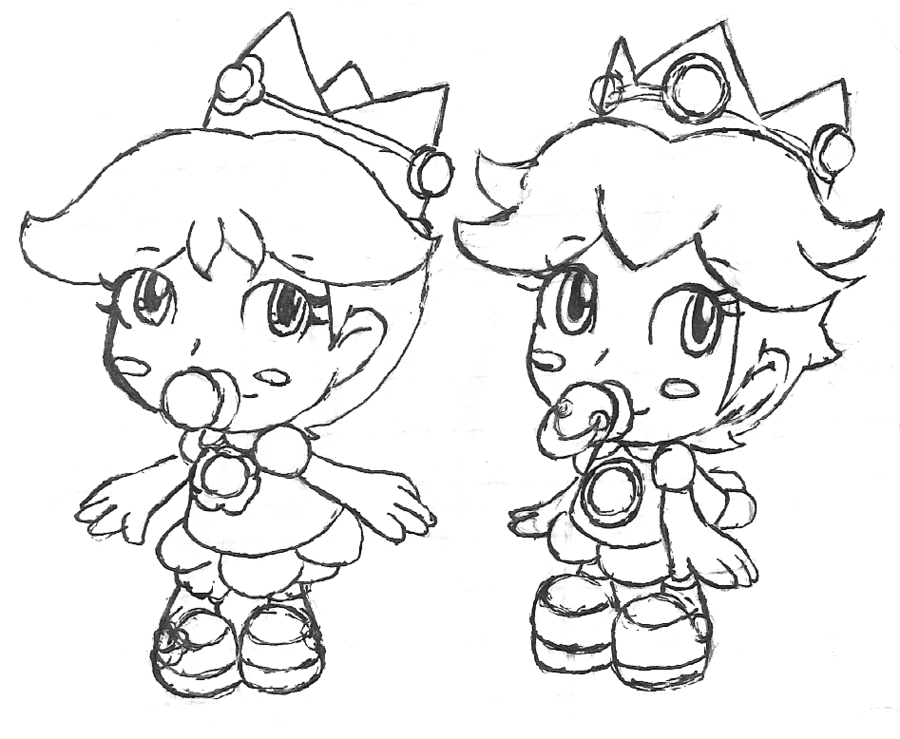 baby princess coloring pages to download and print for free - Baby Princess Peach Coloring Pages