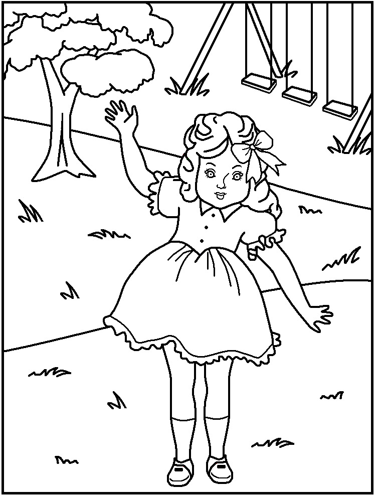 american girl doll coloring pages - Coloring Page Girl