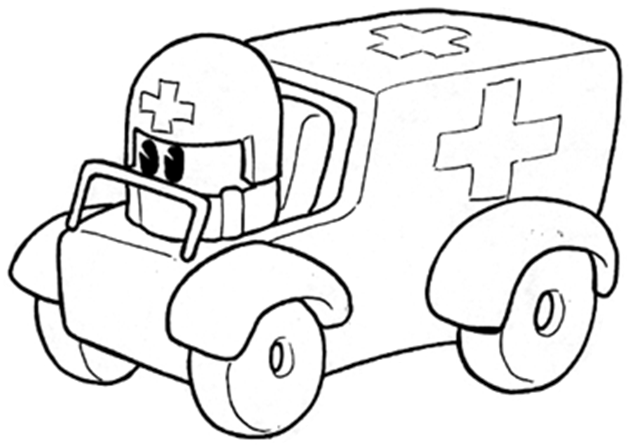 ambulance coloring pages - Ambulance Coloring Pages Kids