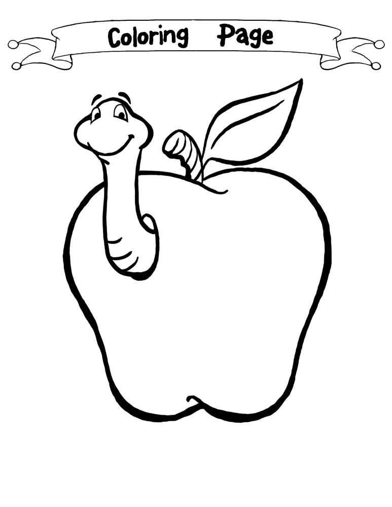 Worm coloring pages to download