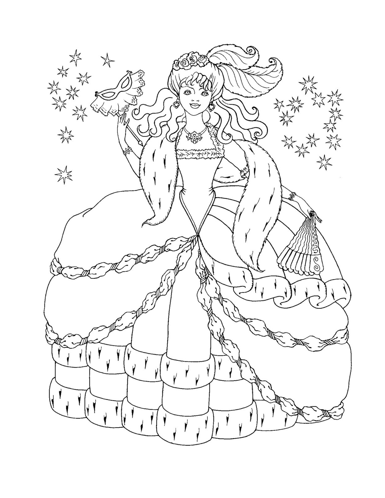 The Snow Queen Coloring Pages Download And Print For Free