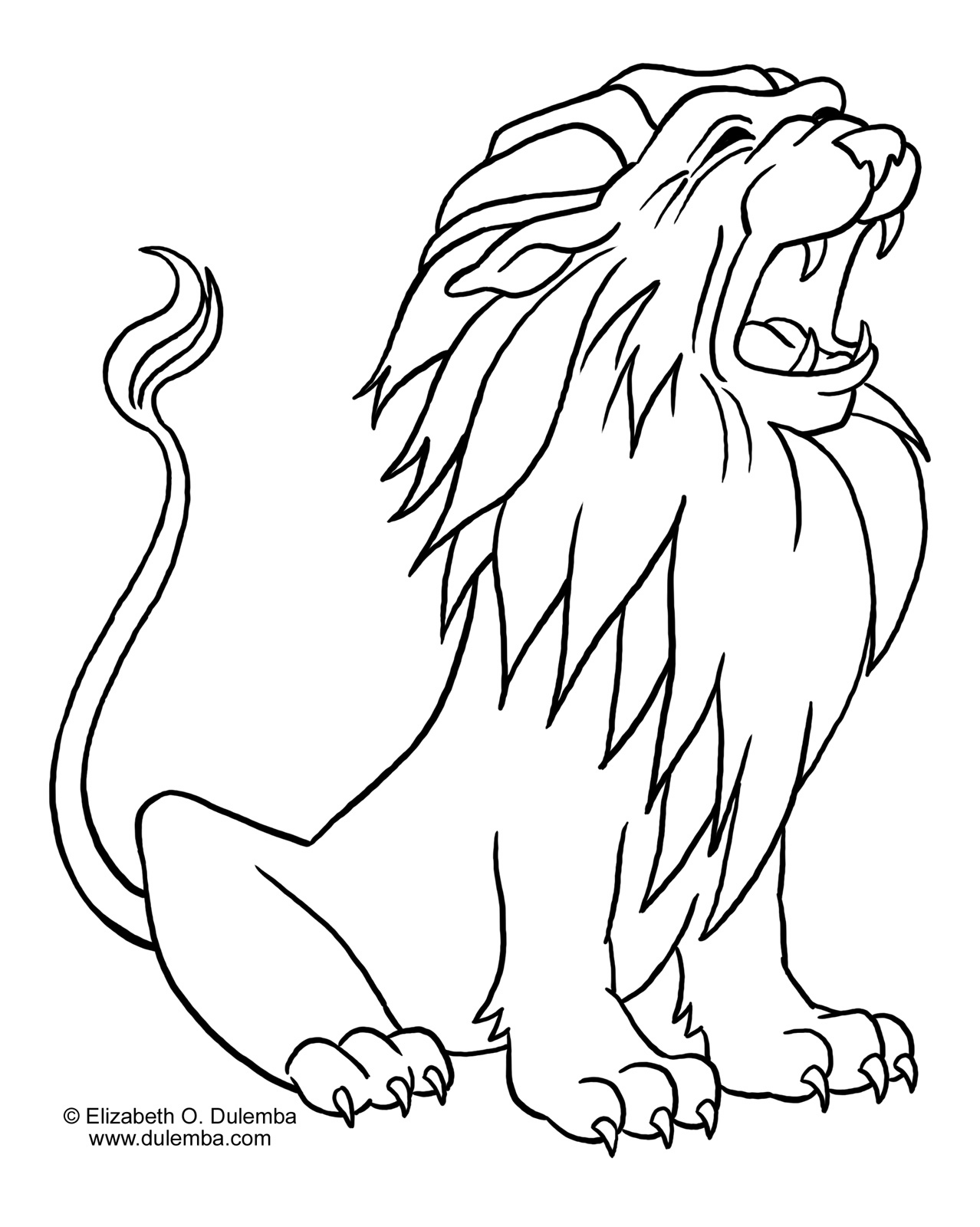 Genius image in free printable lion coloring pages