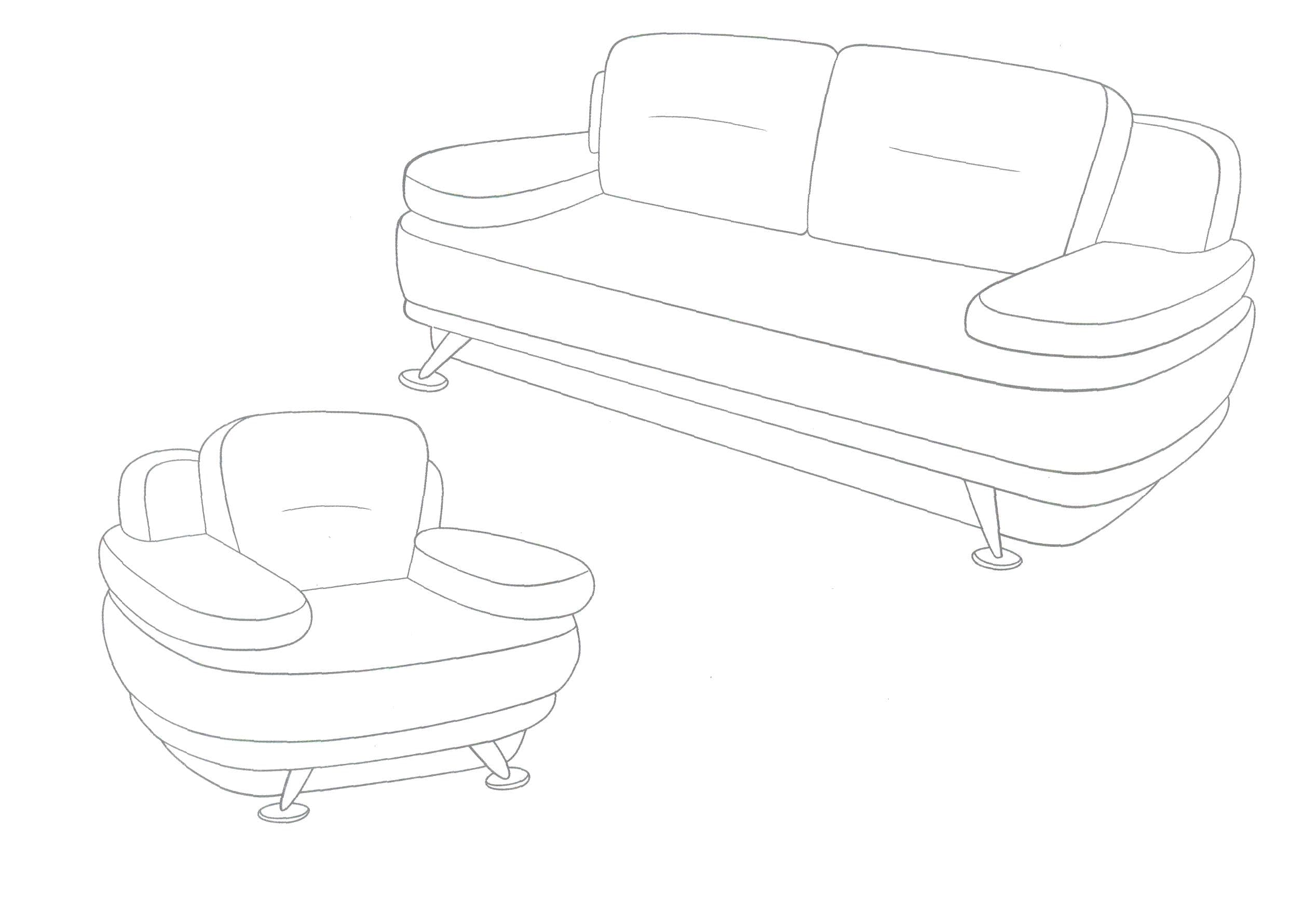 sofa coloring pages - photo#43