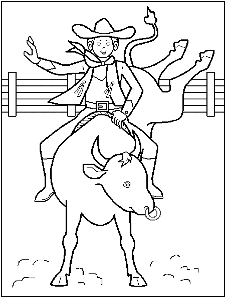 western coloring book pages - photo#14
