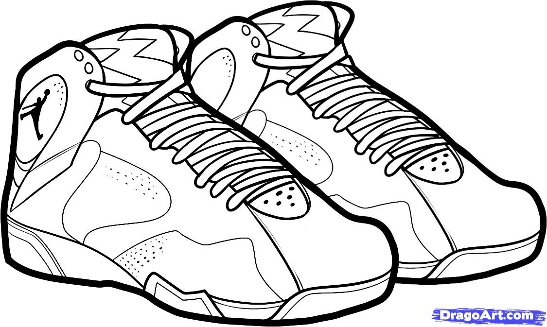 Basketball shoe coloring pages download and print for free