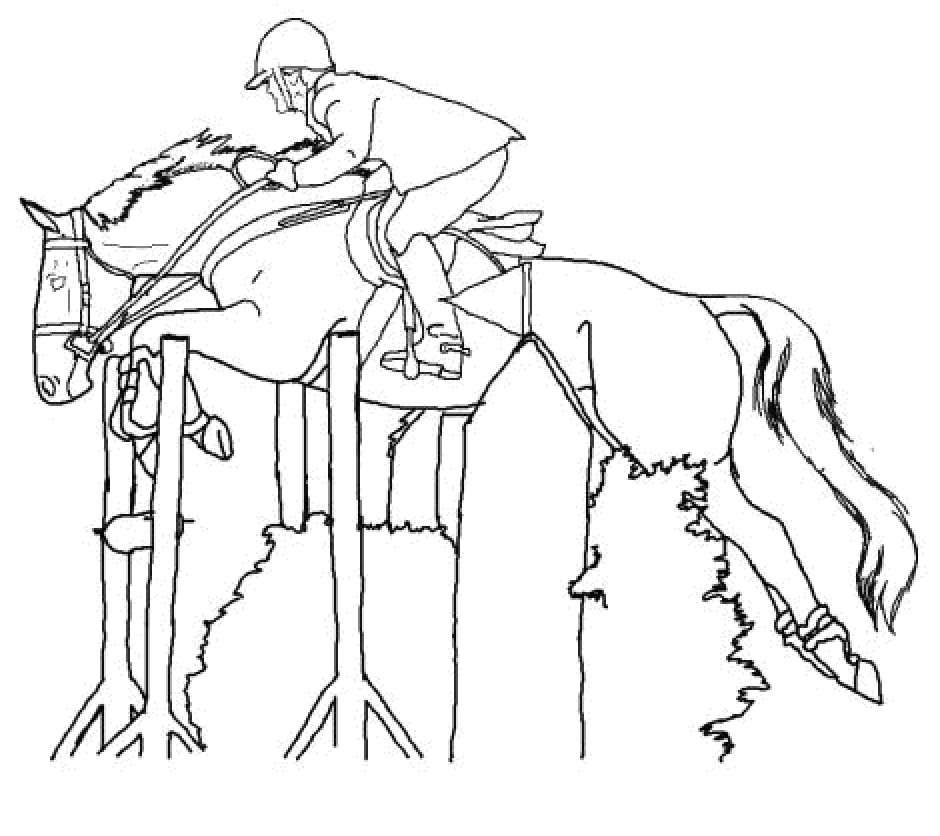 Horse Eventing Coloring Pages Coloring Coloring Pages