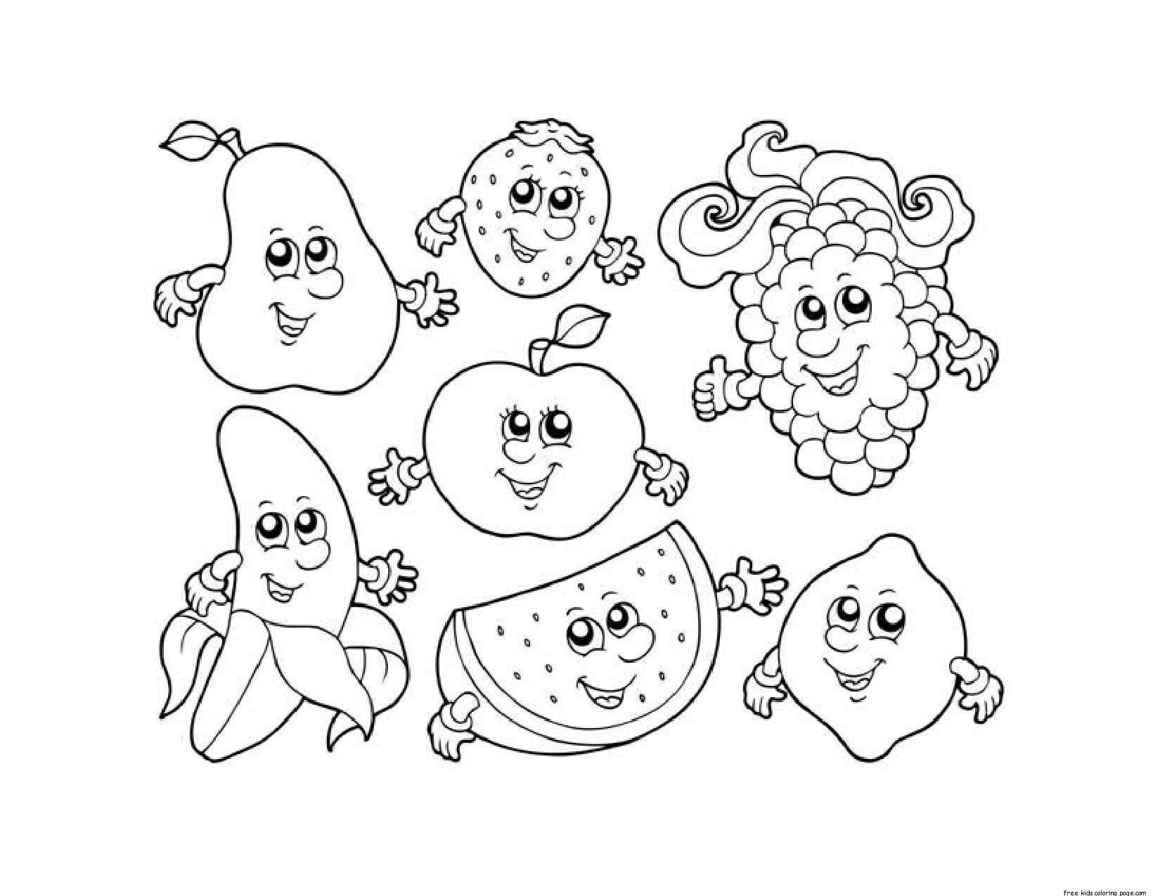 It's just a picture of Unforgettable Coloring Pages Of People With Fruit Background