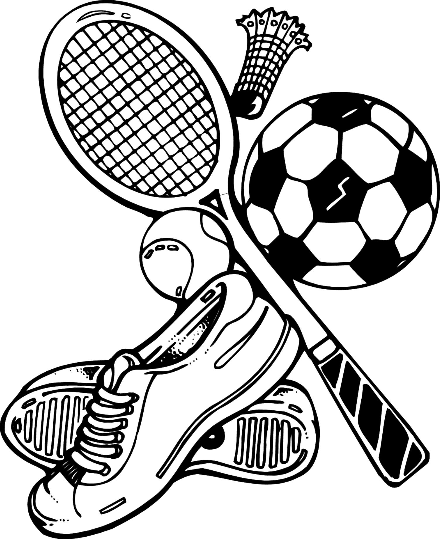 sport coloring pages to download and print for free