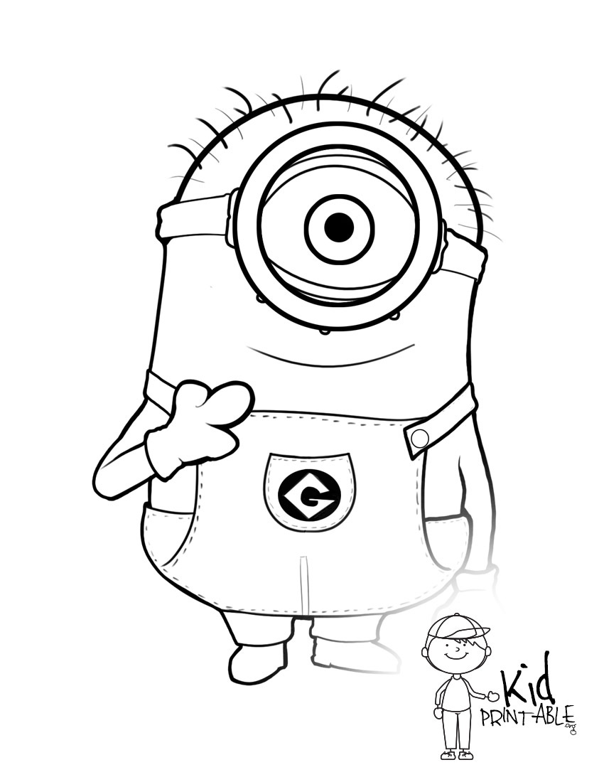 Vampire Minion Coloring Pages Download And Print For Free