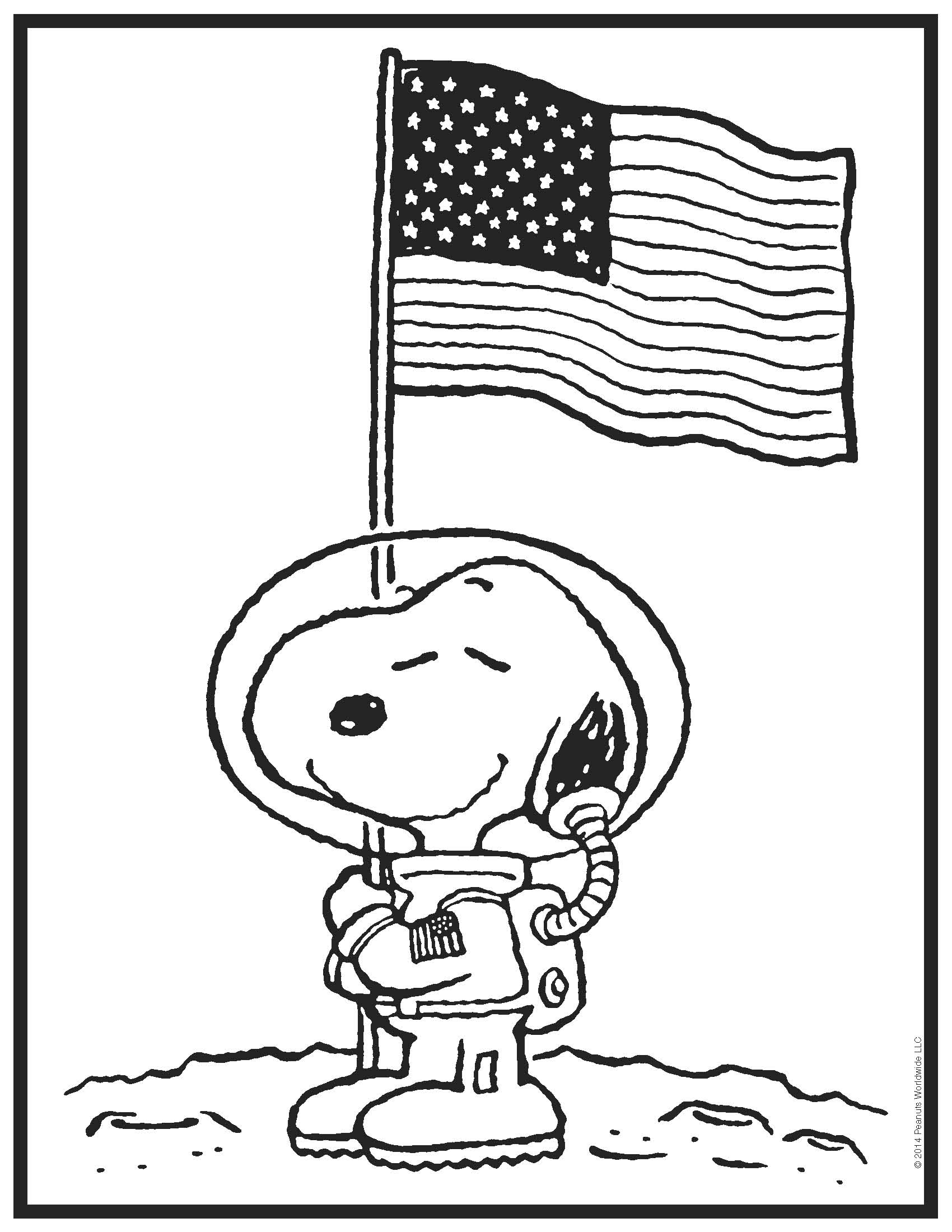 Snoopy coloring pages to download