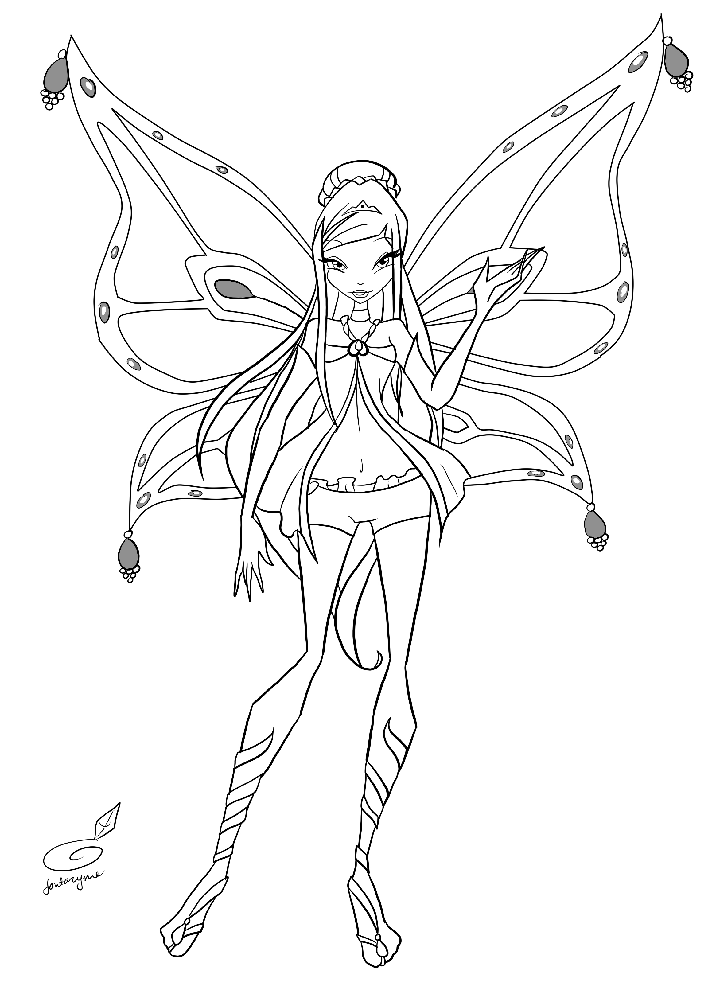 Winx Roxy Coloring Pages Printable For Kids And