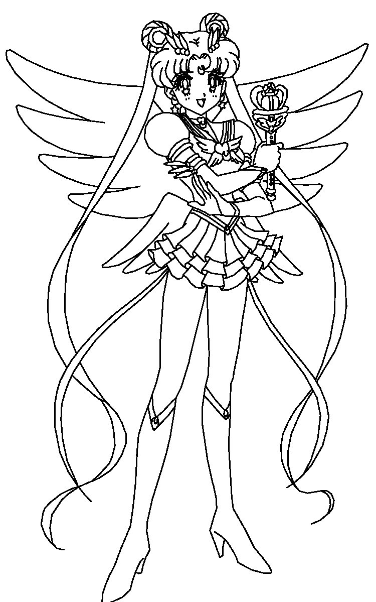 Princess Serenity Coloring Pages : Princess serenity coloring pages download and print for free