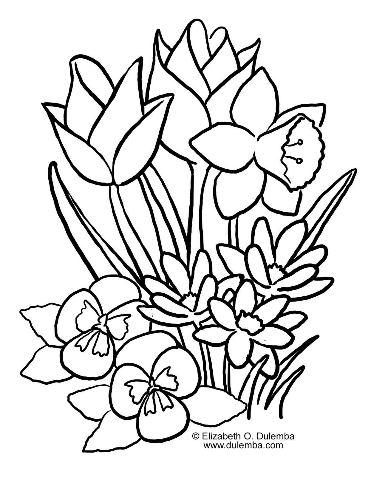 April Coloring Pages For Adults : Great spring coloring pages download and print for free