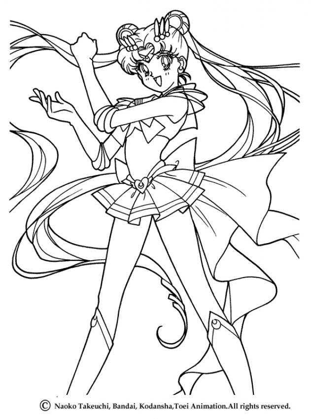 Sailor moon coloring pages to download