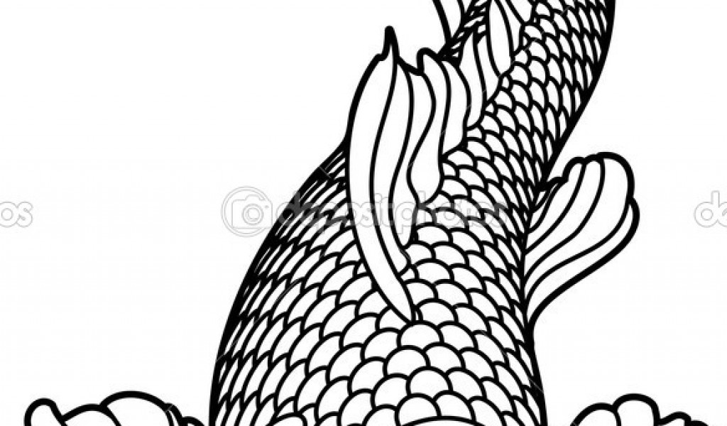 adult fish coloring pages - japanese koi coloring pages download and print for free