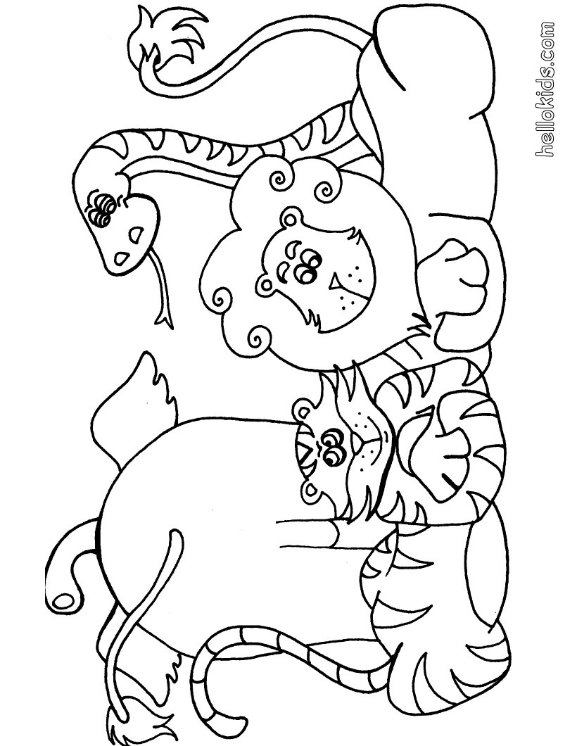 jungle theme coloring pages - photo#16