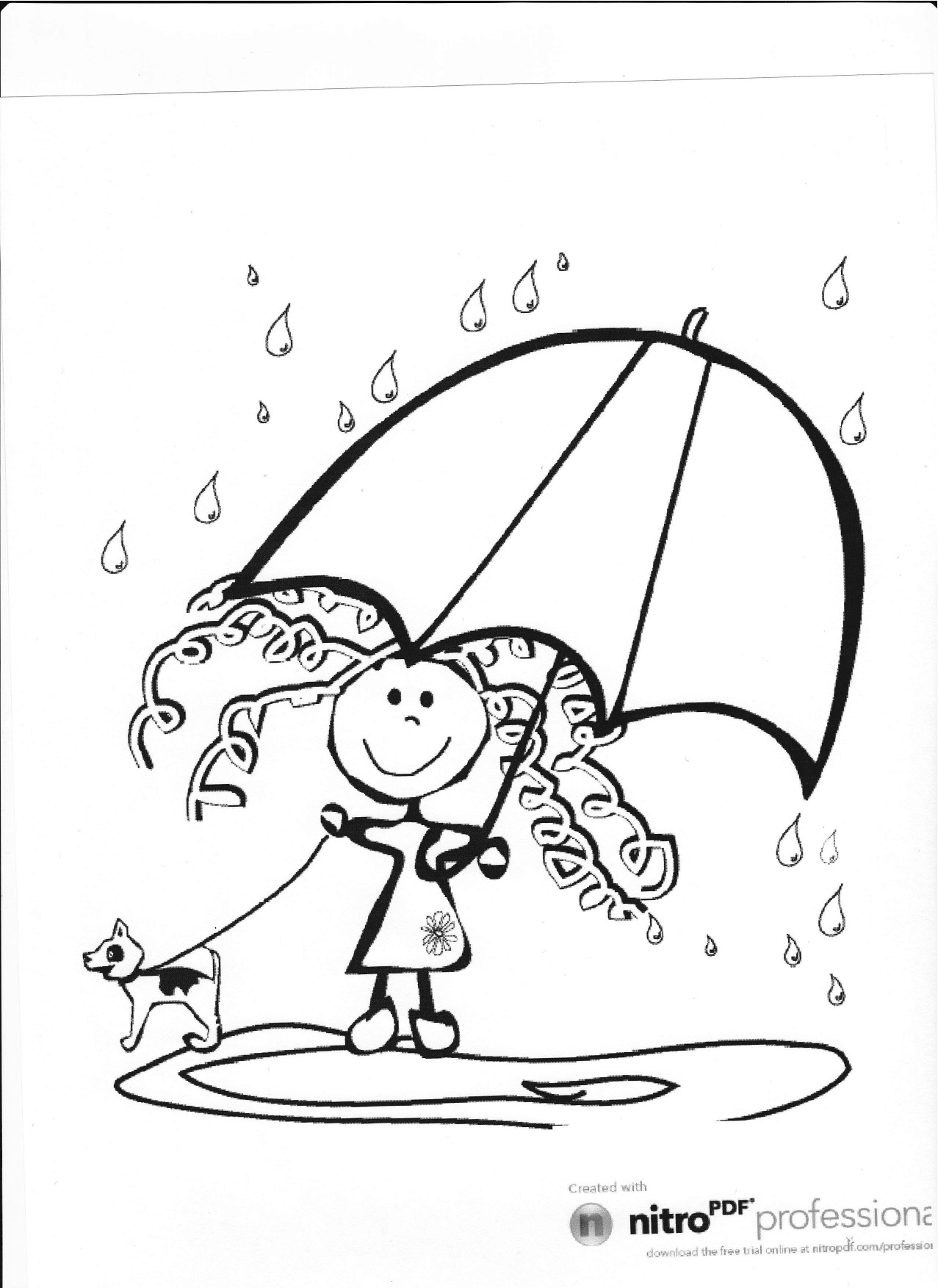 Rainy day coloring pages to download