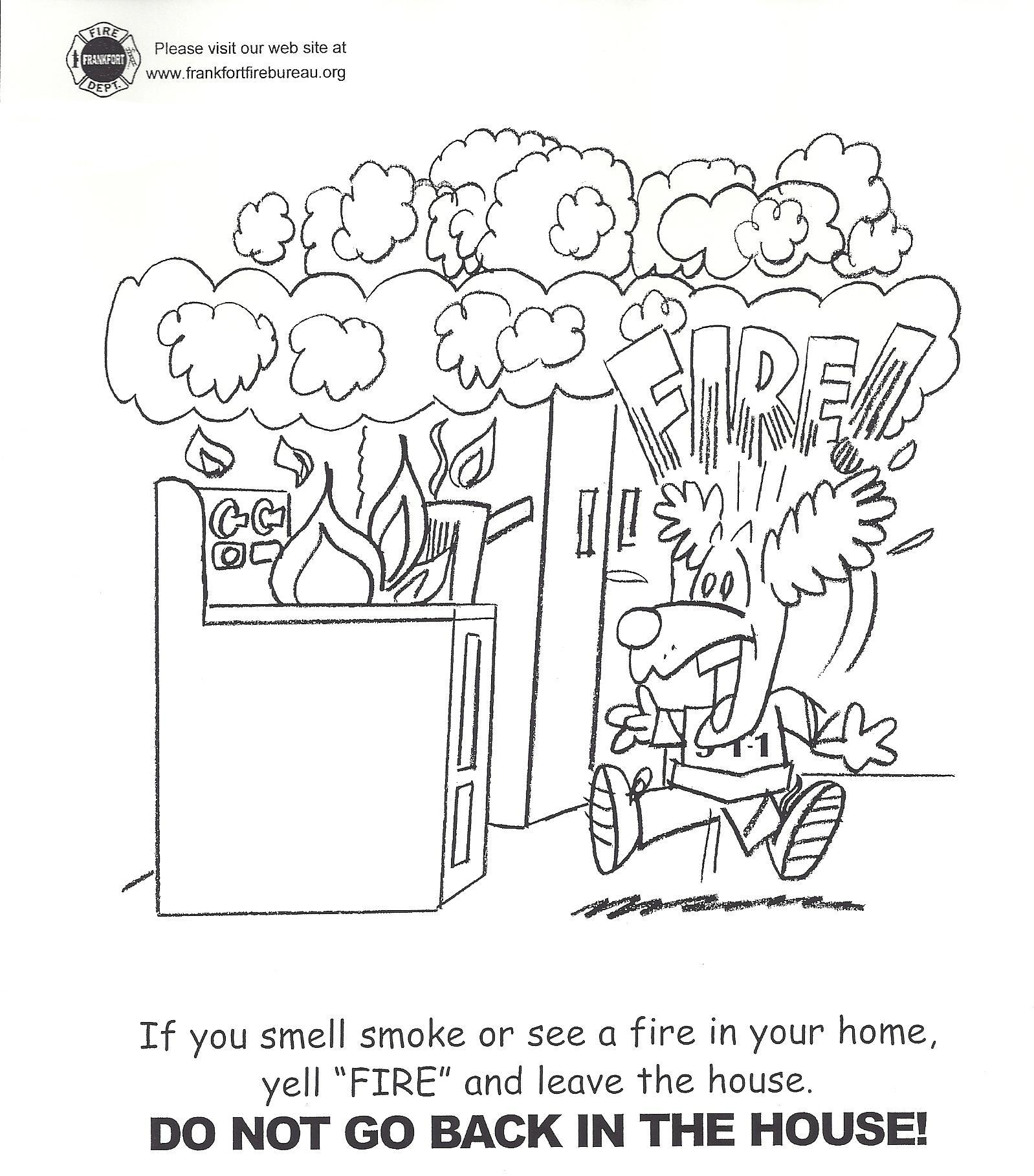 Fire prevention coloring pages and print for free