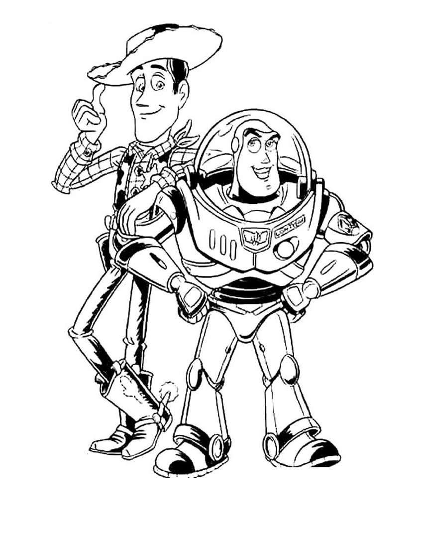 Buzz and zurg coloring pages download and print for free for Flying buzz lightyear coloring page