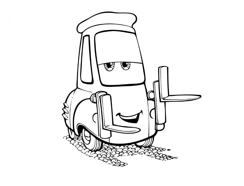 Cars movie coloring pages
