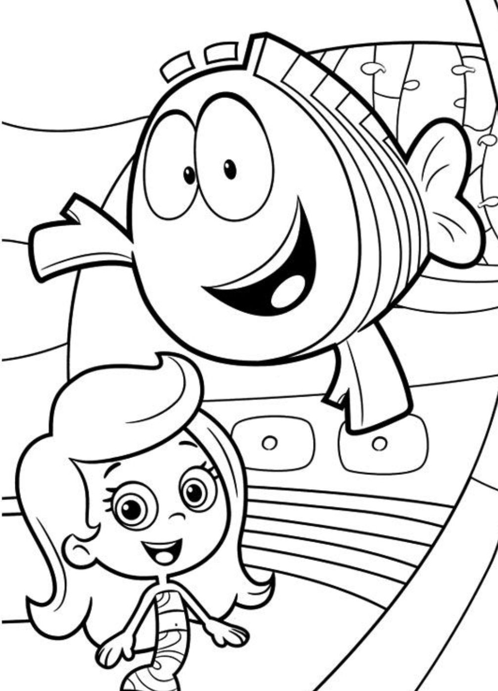 Molly Bubble Guppies Coloring Pages Download And Print For