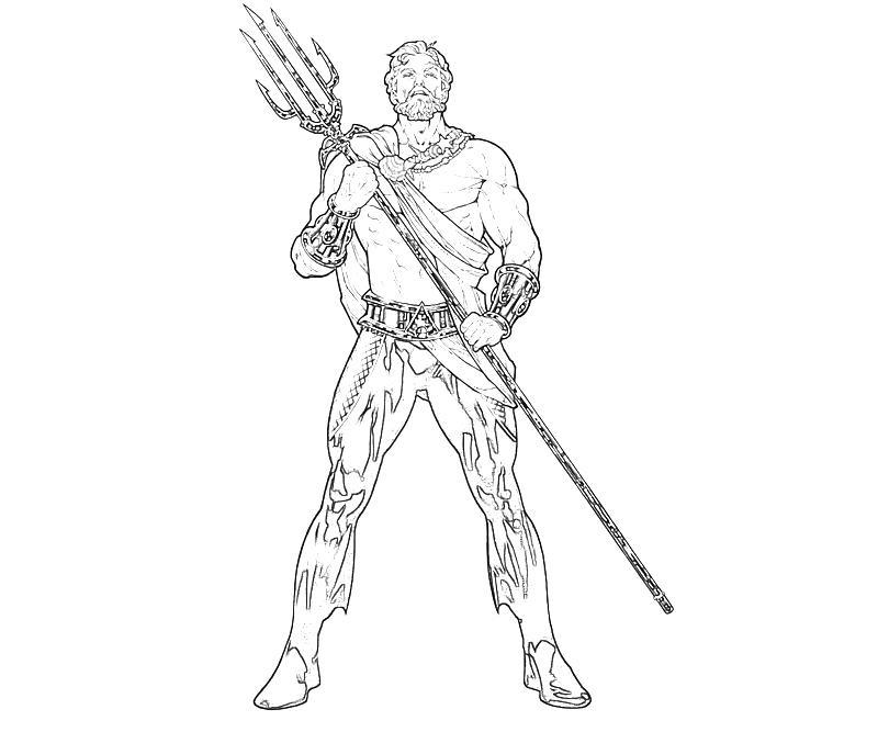 Aquaman Coloring Pages  Elioleracom