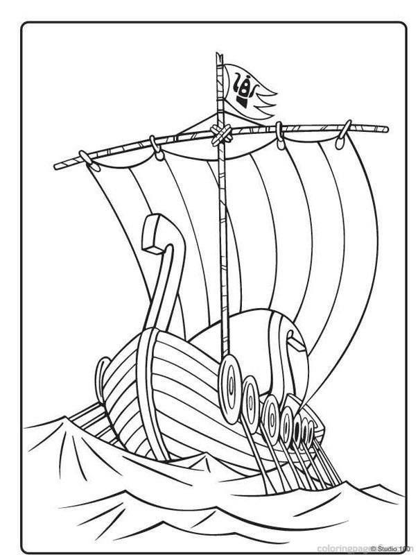 viking ships coloring pages - photo#4