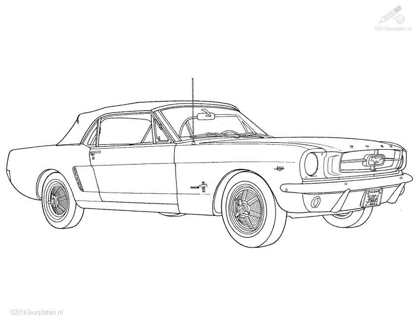 muscle car coloring pages printable - photo#13